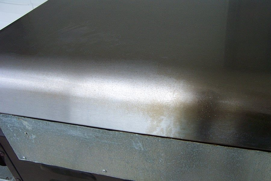 clean stainless steel grill cover photo