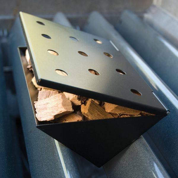 V Shaped Wood Chip Smoker Box Small Charcoal Companion