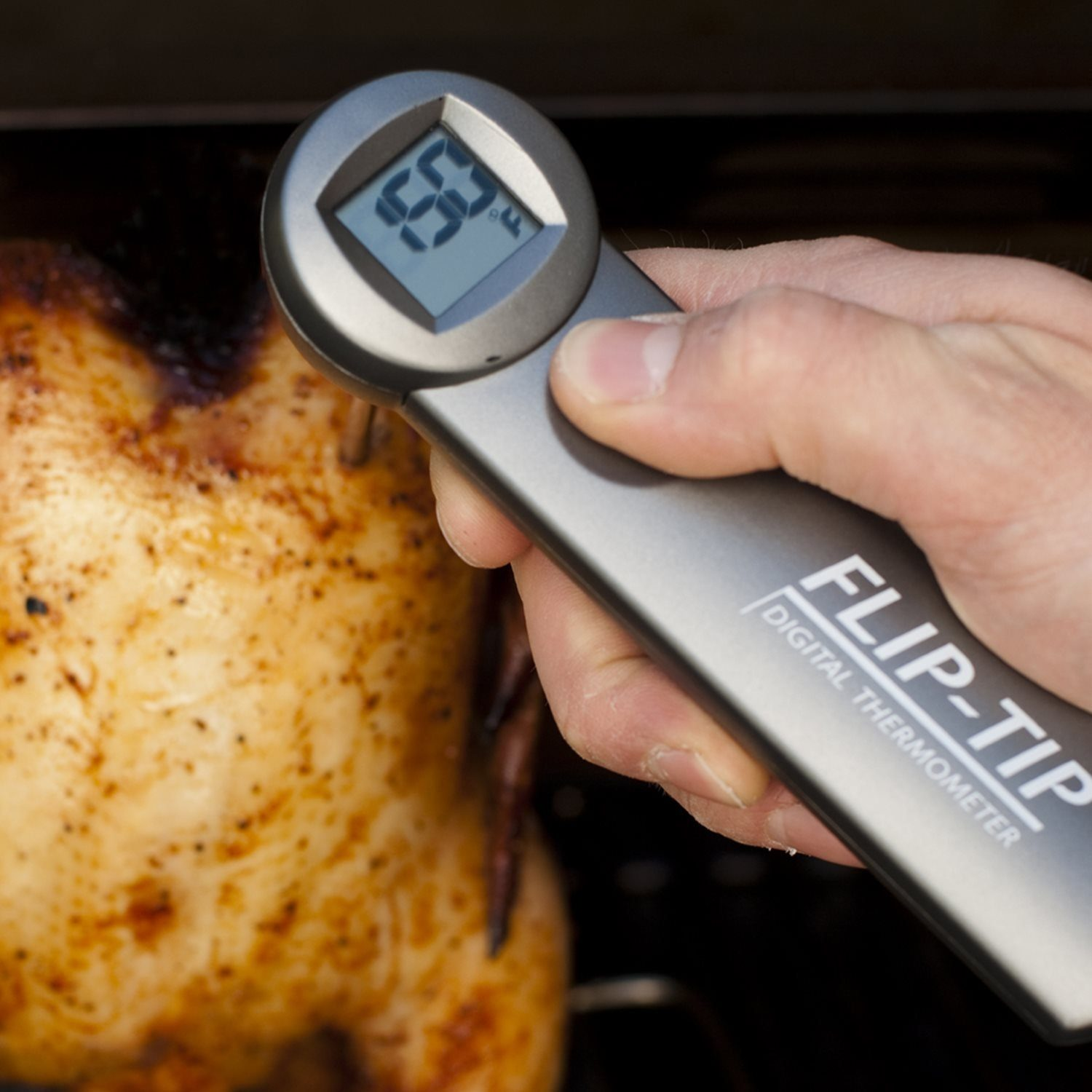 Flip Tip Instant Read Meat Thermometer Charcoal Companion