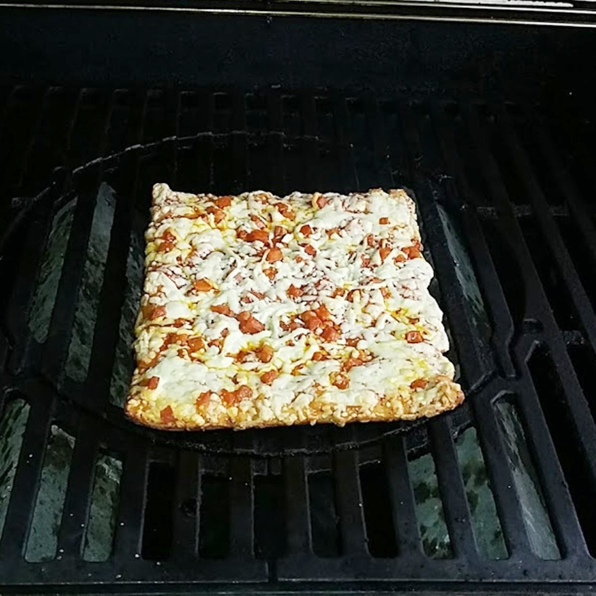 How to grill a Totino's frozen pizza