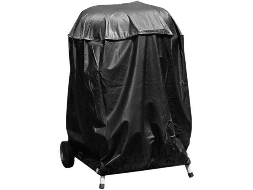 Charcoal Kettle grill cover on grill