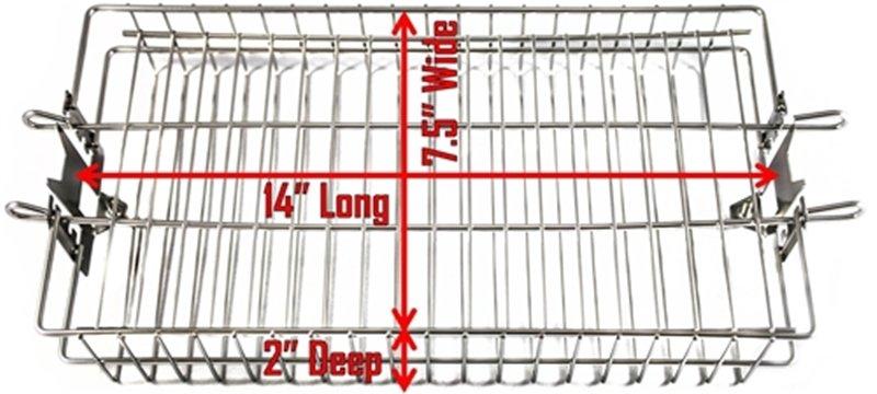flat rotisserie basket size