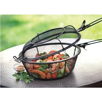Grill basket chefs wire mesh shaker full