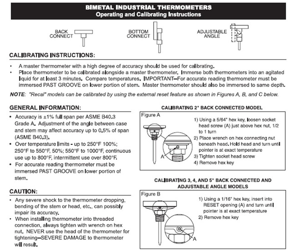 tel-tru barbecue reset thermometer instruction sheet