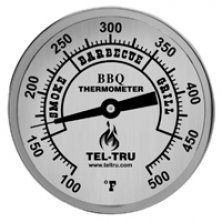 Tel-tru barbecue thermometer 5 inch plain face