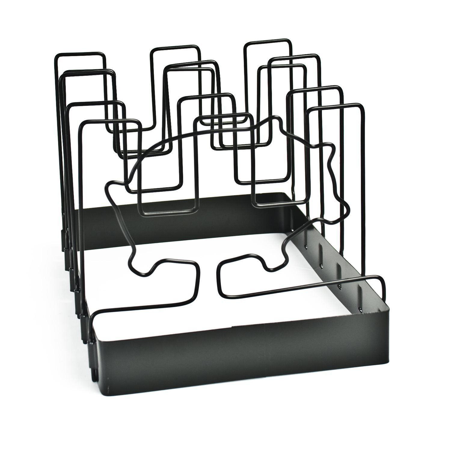 SpaceSaver Non-Stick Rib Rack 5-Slot Charcoal Companion