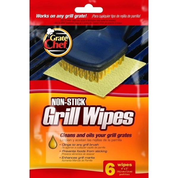 Non-Stick Grill Wipes by Grate Chef 6-pack