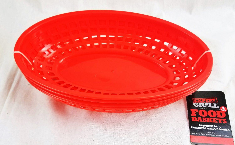 Hamburger Serving Basket red