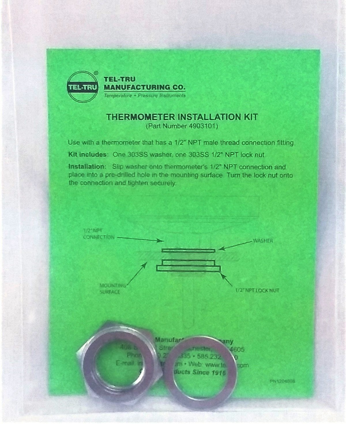 Tel-Tru Installation Kit package