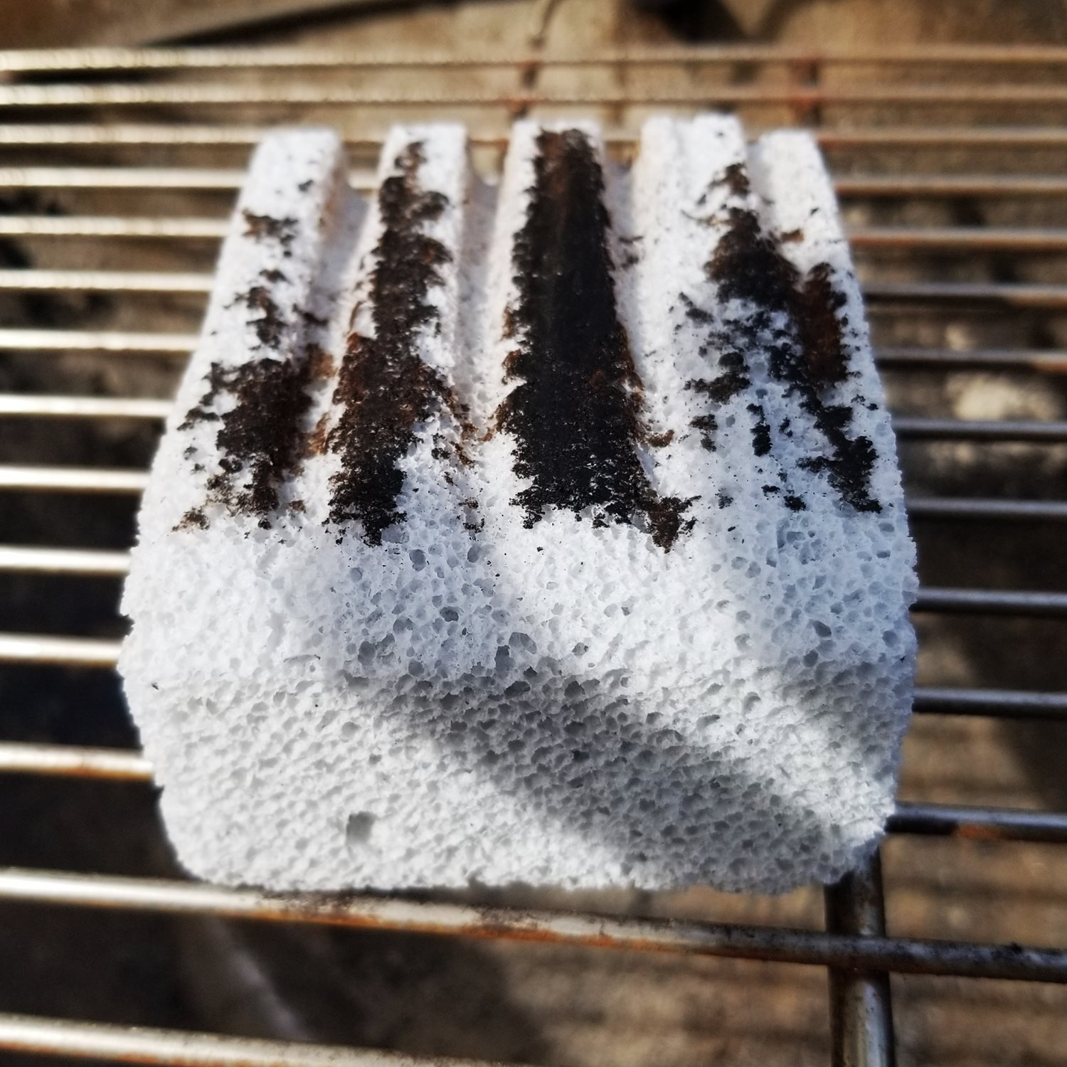 used grill stone grill cleaning block