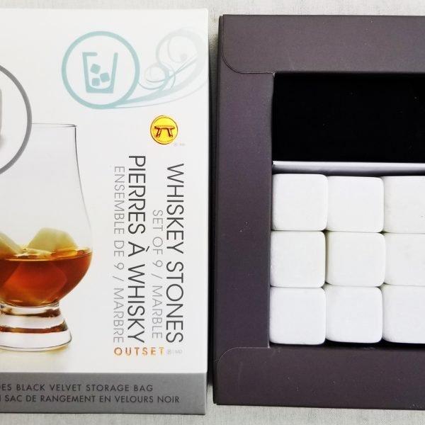 white marble whiskey stones